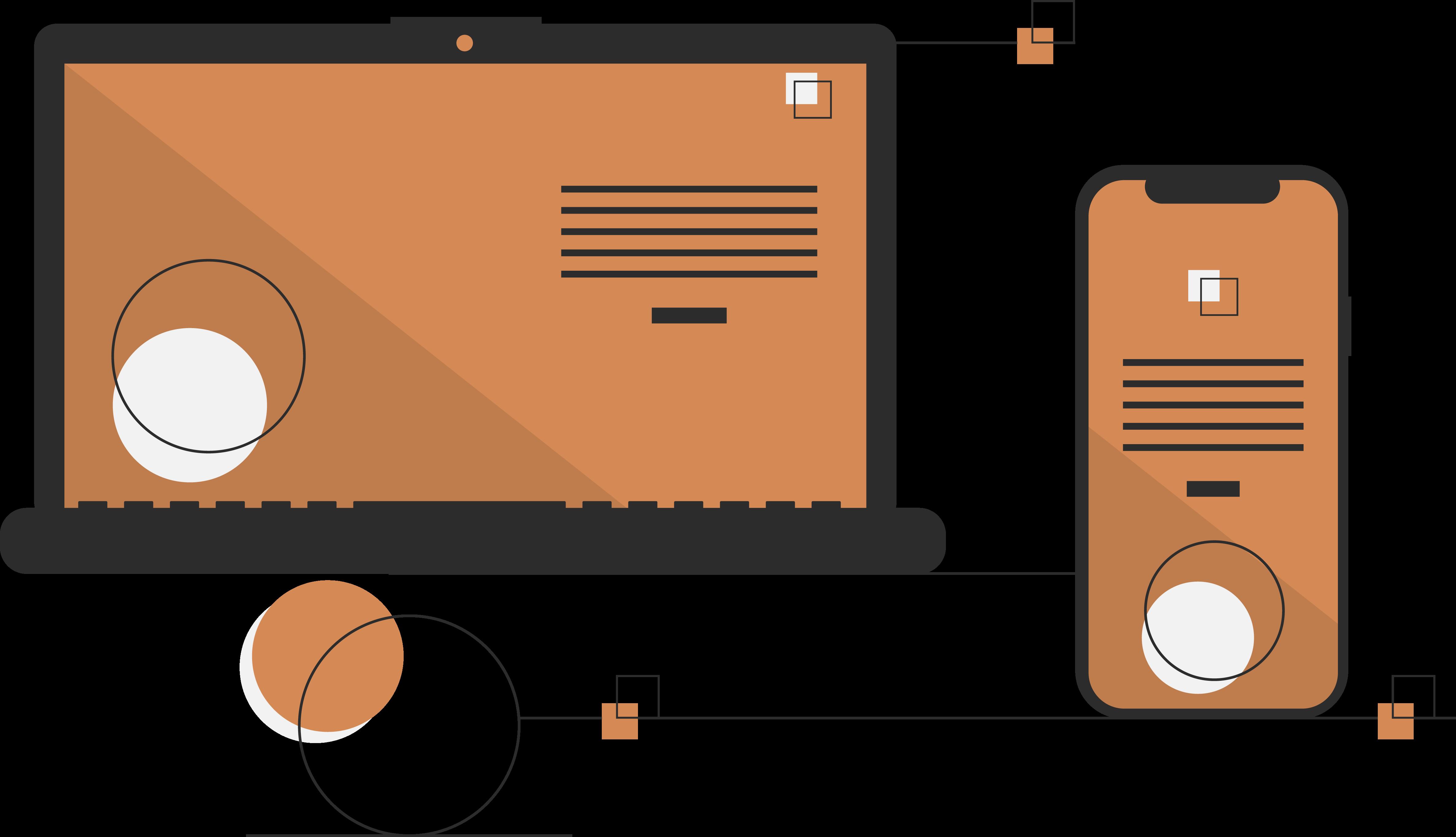 Business-Software auf einem Laptop und Smartphone