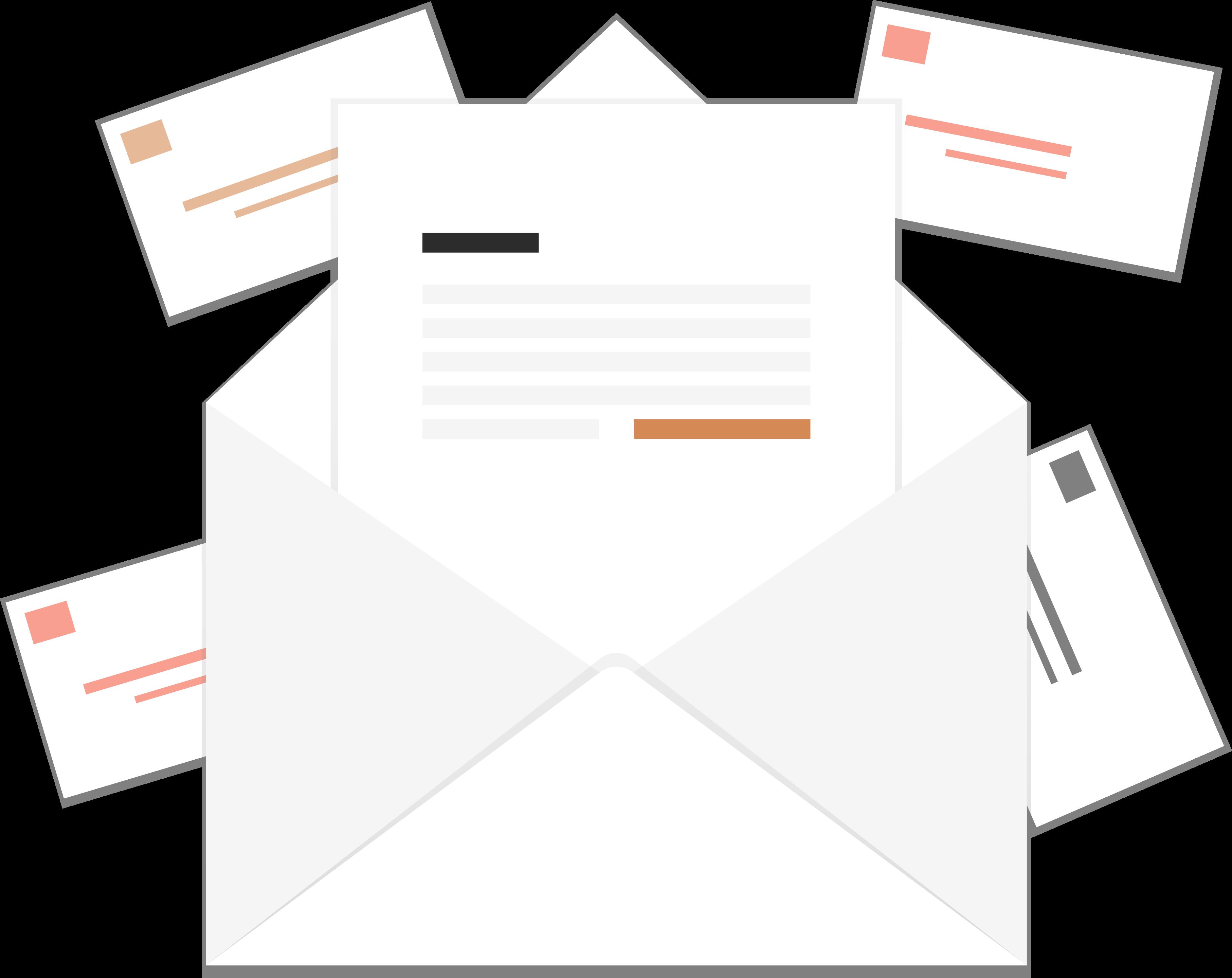Darstellung mehrer Briefe